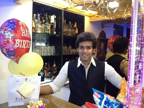 Karan Khanna at his home