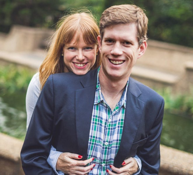 Kate Bedingfield with her husband