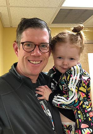 Kate Bedingfield's husband and daughter