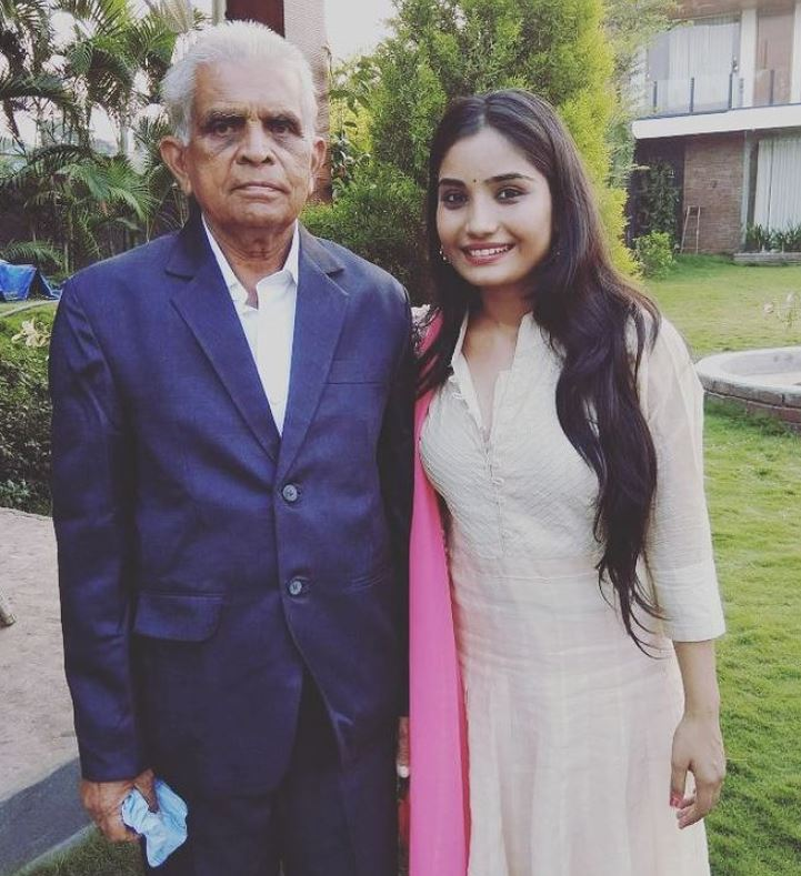 Khushboo Atre with her maternal grandfather