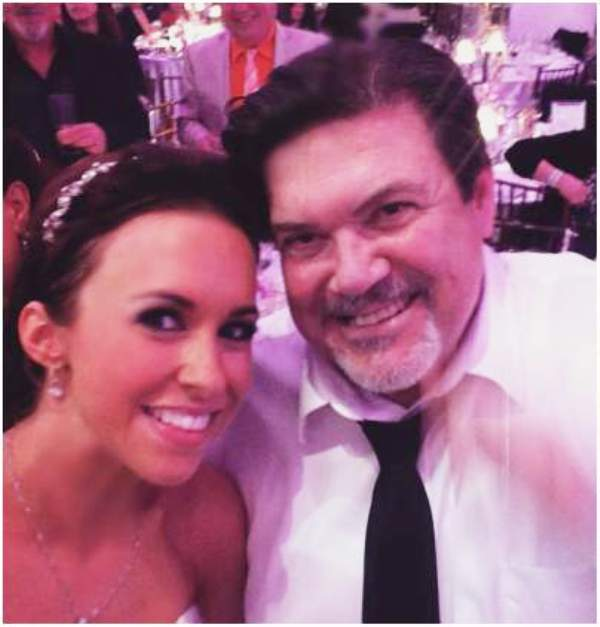 Lacey Chabert with her father