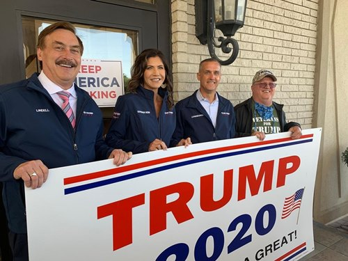 Mike Lindell (left) during Donald Trump's election campaign