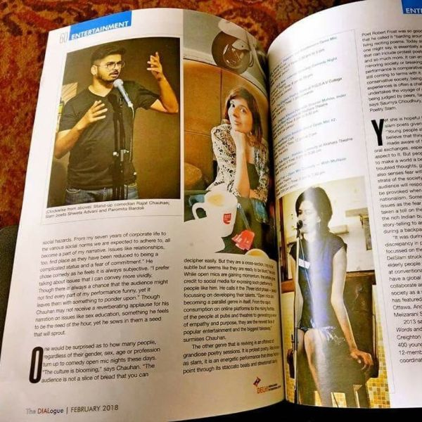 Rajat Chauhan getting featured in a magazine