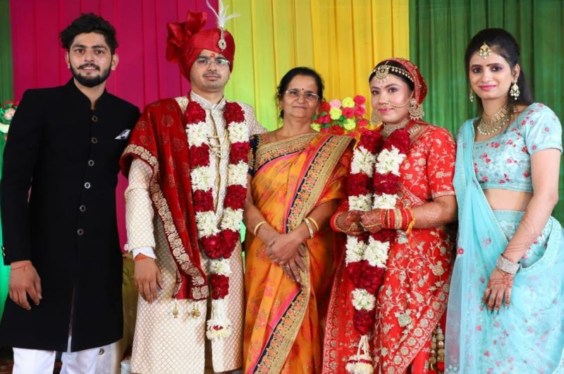 Rajat Chauhan with his family