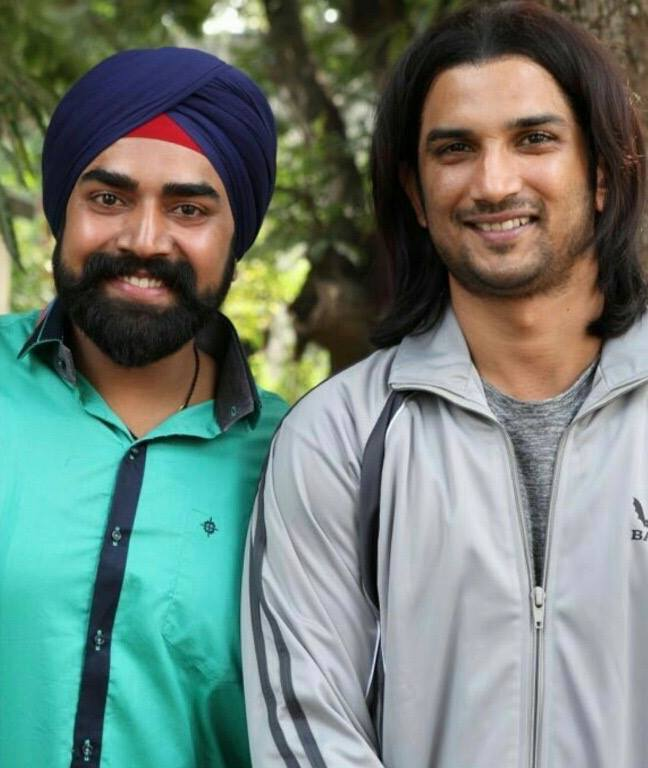 Sandeep Nahar with Sushant Singh Rajput on the sets of MS Dhoni The Untold Story