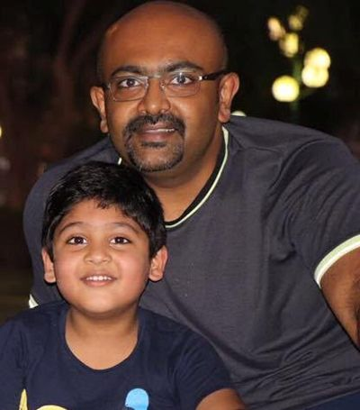 Sandhya Manoj's brother with his son