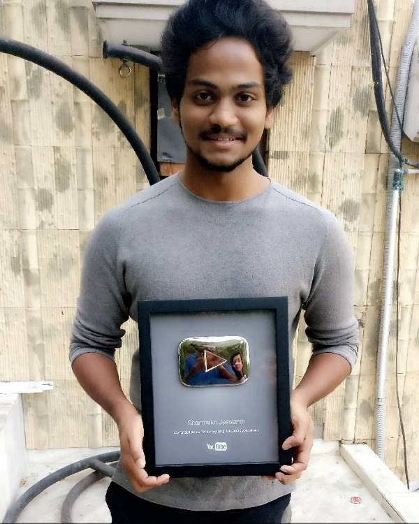 Shanmukh Jaswanth's Silver Play Button