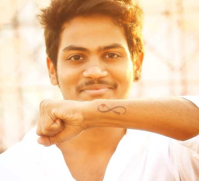 Shanmukh Jaswanth's tattoo