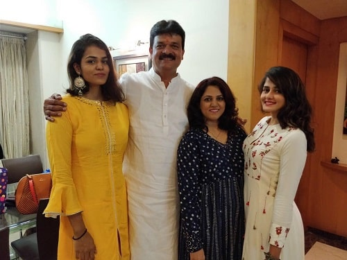 Shivani Patil with her family