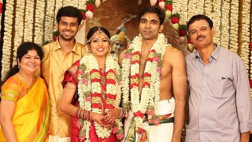 Sreevathsav Chandrasekar with his family
