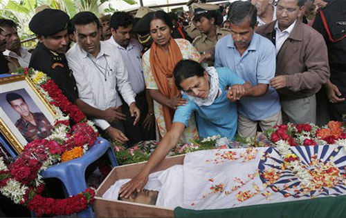 The last rites of Major Sandeep Unnikrishnan