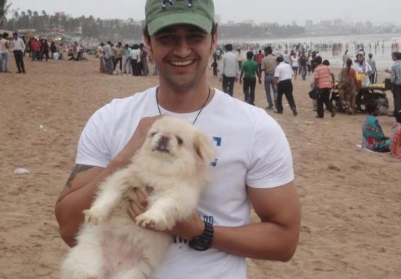 Vikas Khoker with a dog