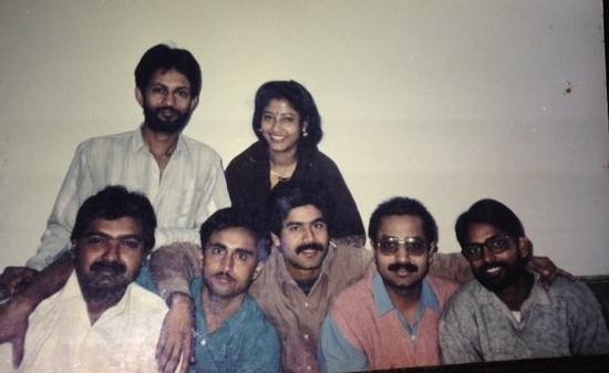 Young Ajit Anjum (standing on the back) with his wife and other news media correspondents