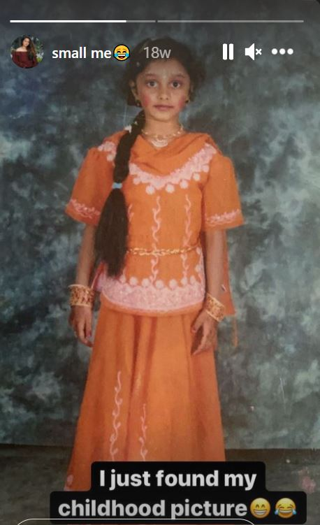 A picture of Dhanushree from her school days