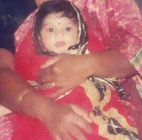 A childhood picture of Vaishnavi Gowda