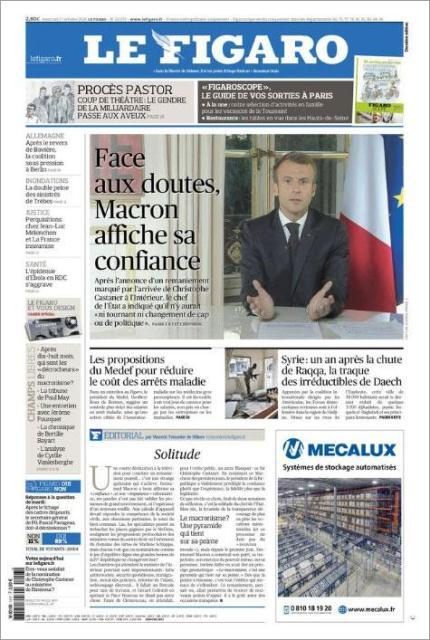 A layout of Le Figaro