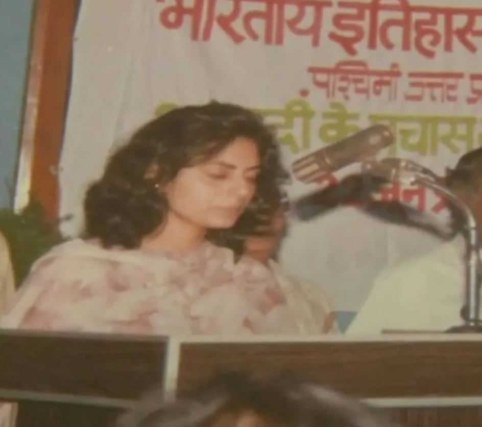 A picture of Rashmi Tyagi during her college days