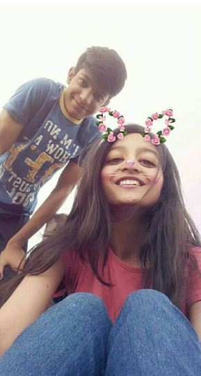 Aarushi Chib with her brother