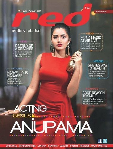 Anupama Parmeshwaram featured on the cover of Red Magazine