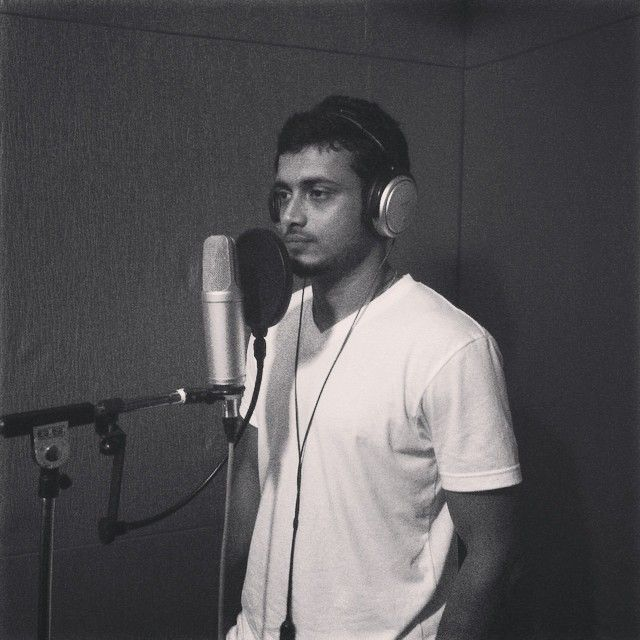 A picture of Aravind from the dubbing session