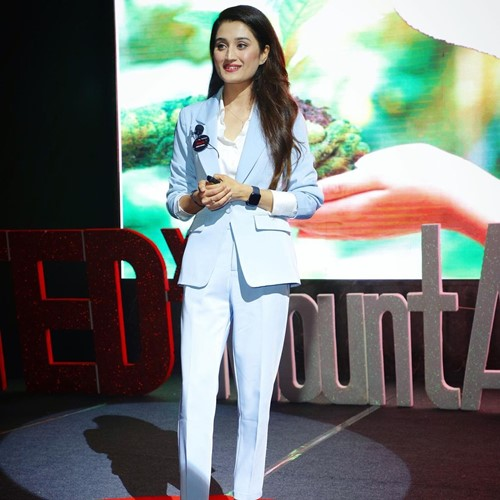 Arushi Nishank during a TEDx talk as a speaker