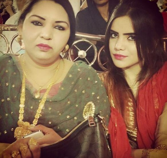 Azma Fallah and her mother