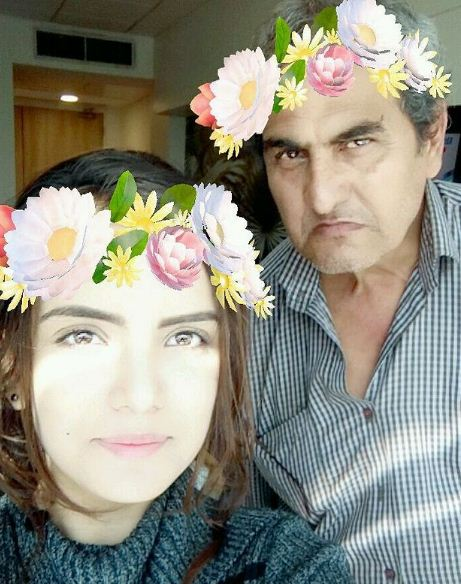 Azma Fallah with her father