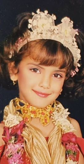 Azma Fallah's childhood picture