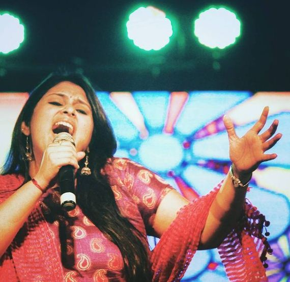 Geetha Bharathi Bhat during a stage show