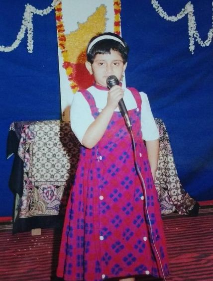 Geetha Bharathi Bhat's childhood picture