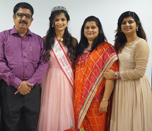 Hemal Ingle with her family