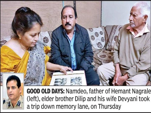 Hemant Nagrale's father, elder brother, and his brother's wife