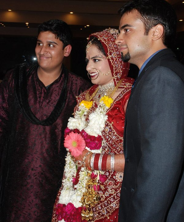 Inder Sahani with his siblings