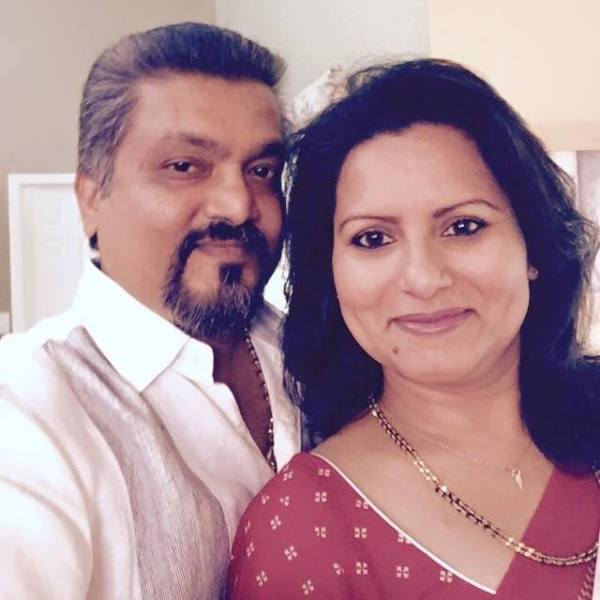Maju Varghese's sister and brother-in-law