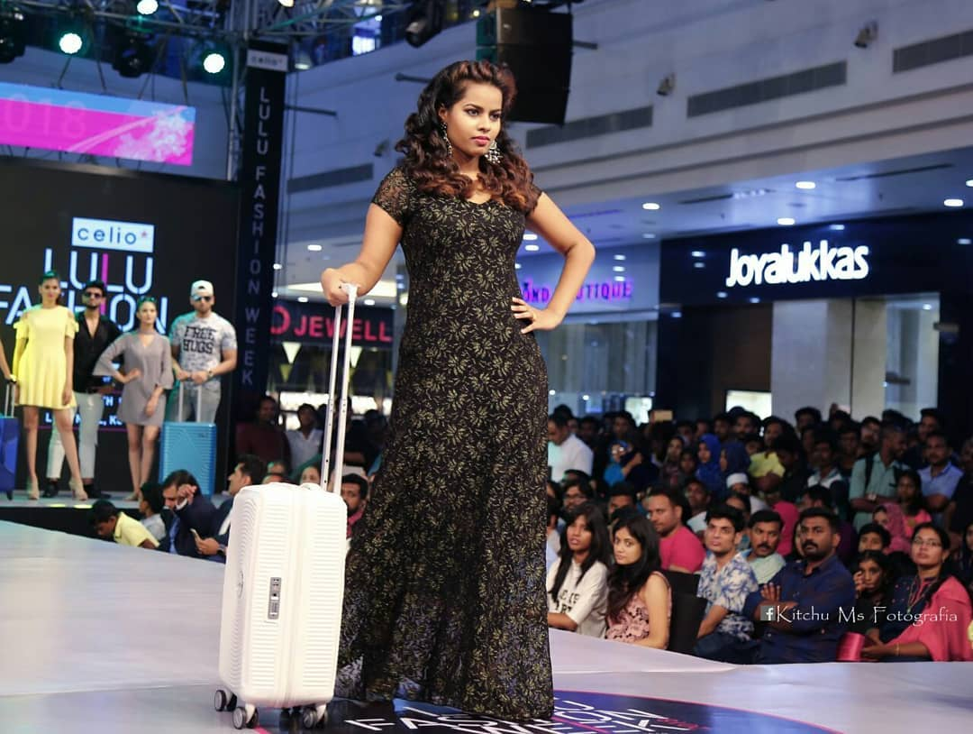 Michelle Ann Daniel posing for a picture during a ramp walk