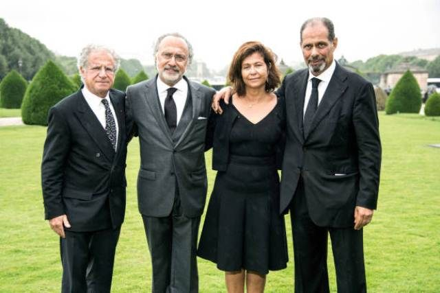 Olivier Dassault with his siblings