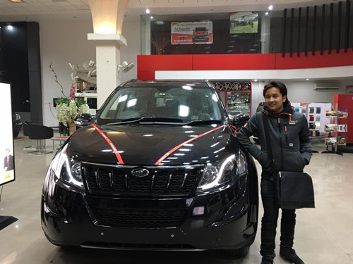 Pawandeep Rajan with his new car Mahindra XUV 500