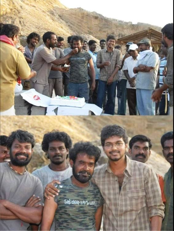 Producer Udhayanidhi Stalin on the sets of Kuruvi (2008)