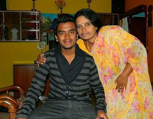 Raghu Gowda and his mother