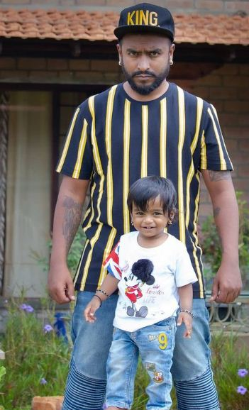 Raghu Gowda and his son