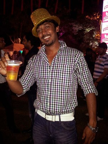 Rajeev in a party