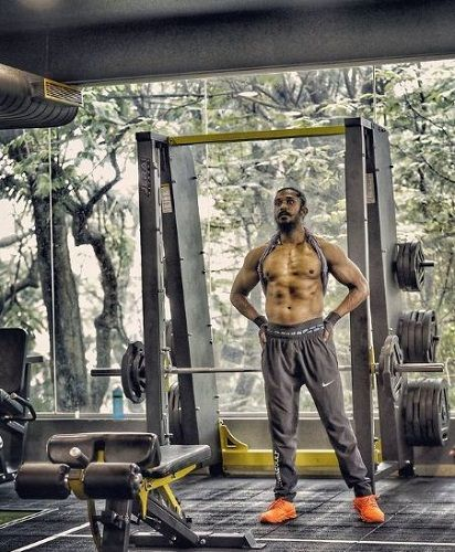 Rajeev working out in the gym