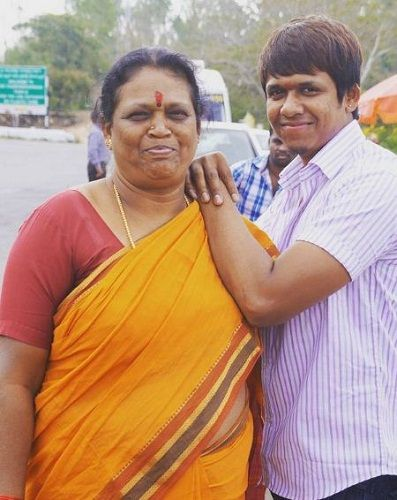 Rajeev's mother and brother