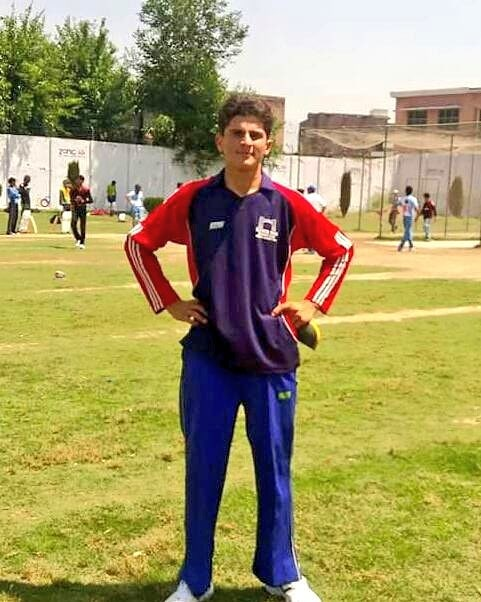 Shaheen Afridi at his first ever cricket selection trial in 2015