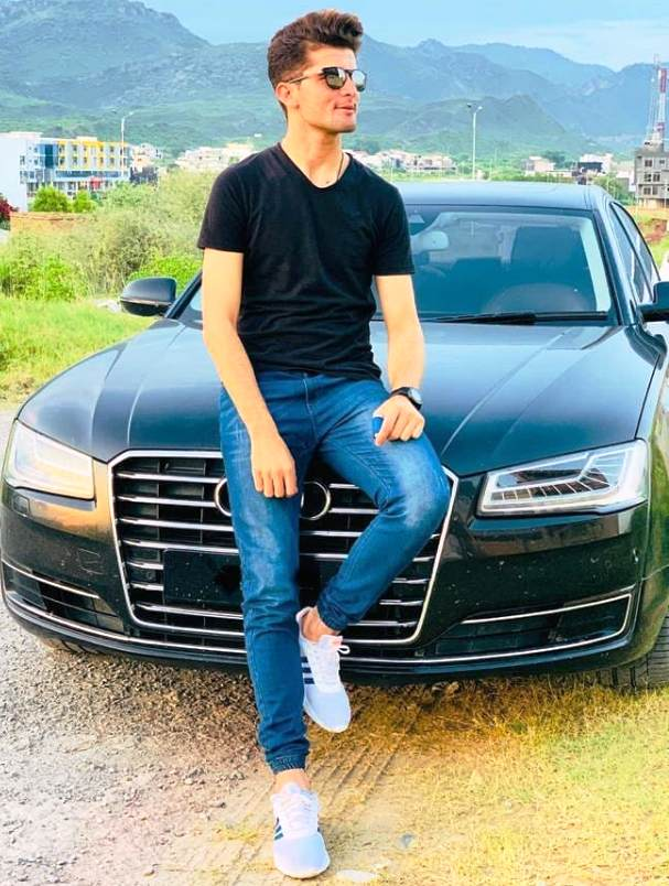 Shaheen Afridi with his Audi A4