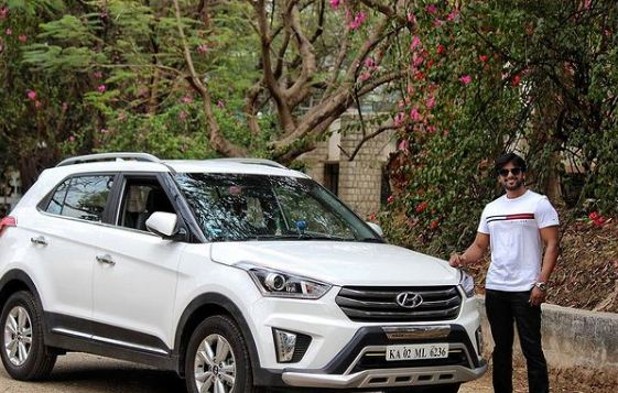 Shamanth Gowda with his car