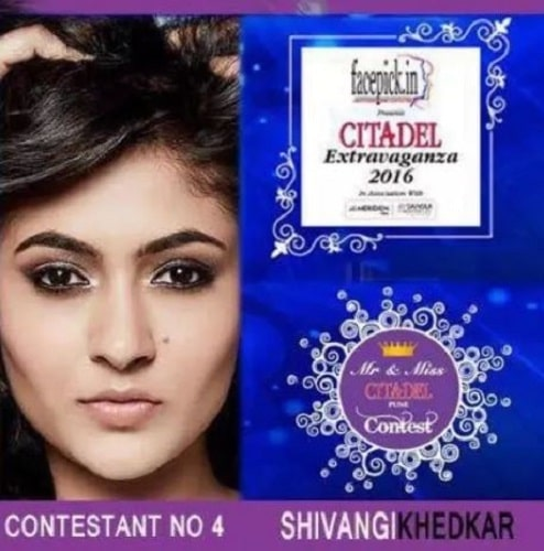 Shivangi Khedkar as a contestant in Mr. and Miss Citadel Pune