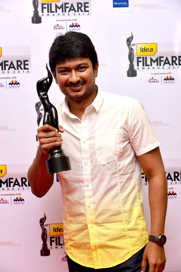 Udhayanidhi Stalin with his Filmfare Award