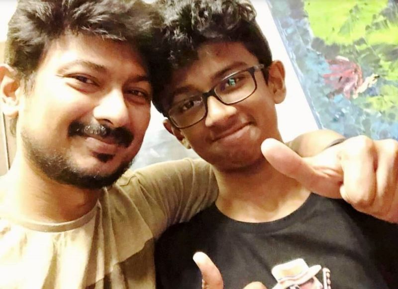 Udhayanidhi Stalin with his son, Inbanithi