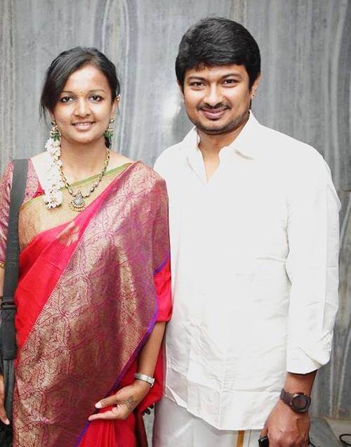 Udhayanidhi Stalin with his wife, Kiruthiga Udhayanidhi